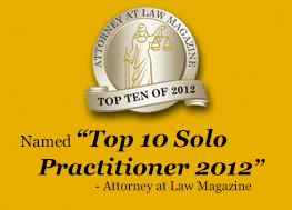 Top 10 Solo Practitioner 2012