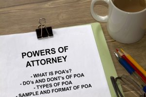 paper with Arizona Power of Attorney and pencil tip