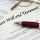 Last will and testament text on paper Gilbert Law AZ